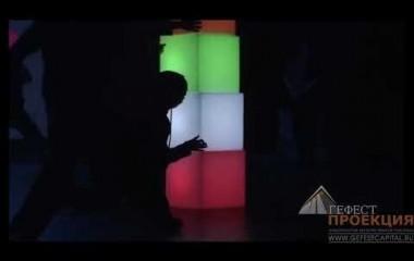 Гефест проекция Республики Татарстан осуществила поставку световых led кубов