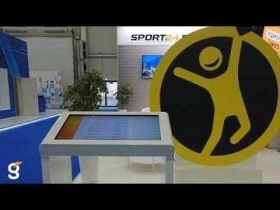 Интерактивный стол на стенд Столото 5 в рамках международного форума «Россия - спортивная держава»