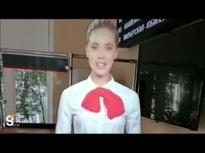 Виртуальный промоутер в зал ожидания детской железной дороги г. Хабаровска